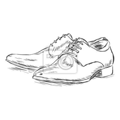 Vector ilustración boceto - zapatos de los hombres fotomural ... 1d5839818308e