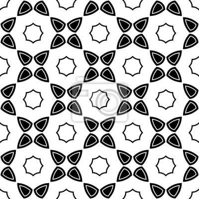 Vector Modern Seamless Geometry Pattern Flower Black And