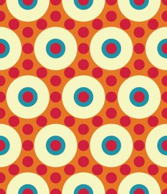 Fotomural Vector moderno patrón de círculo de geometría colorida transparente, color resumen de antecedentes geométricos, almohada multicolores, textura retro, diseño de moda hipster