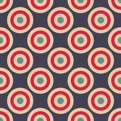 Fotomural Vector moderno sin fisuras geometría círculos patrón, color resumen de antecedentes geométricos, almohada impresión multicolor, textura retro, hipster diseño de moda