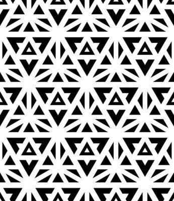 Fotomural Vector modernos patrón transparente geometría sagrada, impresión textil blanco y negro, la textura abstracta, diseño de moda monocromo