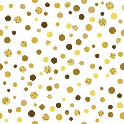 Fotomural Vector oro brillante patrón transparente