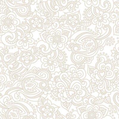 Fotomural Vector patrón transparente con fondo floral romántico