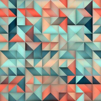 Fotomural Vector sin fisuras rosa azul gradiente triángulo cuadrícula irregular patrón cuadrado