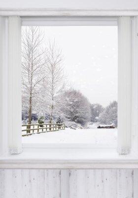 Fotomural Ventana de invierno