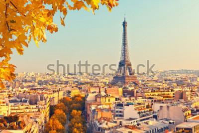 Fotomural Ver en la torre eiffel al atardecer, París, Francia