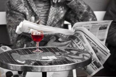 Fotomural Verre de vin dans un bistrot un - Paris, Francia