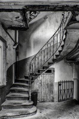Fotomural vétuste escalier