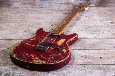 Fotomural Vieja guitarra eléctrica roja