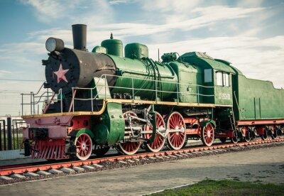Fotomural viejas locomotoras de vapor del siglo 20