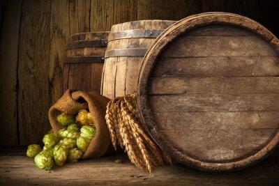 Fotomural Viejo barril de madera