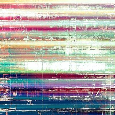 Fotomural Viejo fondo abstracto del grunge, textura retro envejecida. Con diferentes patrones de color: amarillo (beige); rosado; azul; blanco; verde