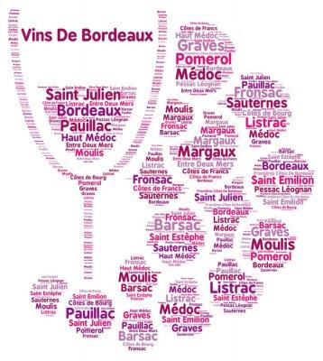 Fotomural Vino de Burdeos palabra nube