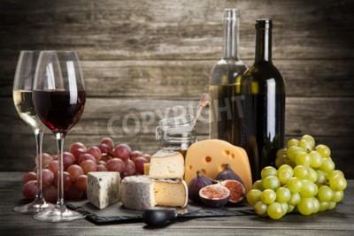 Fotomural Vino y queso todavía la vida