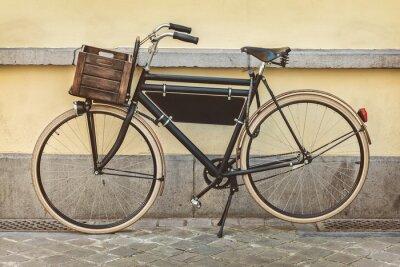 Fotomural Vintage bicicleta con cajón de madera