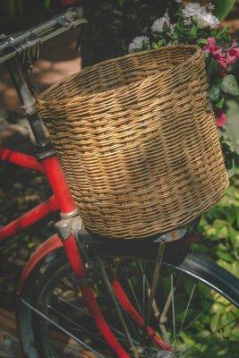 Fotomural Vintage bicicleta con cesta