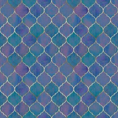 Fotomural Vintage decorative grunge indian, moroccan seamless pattern