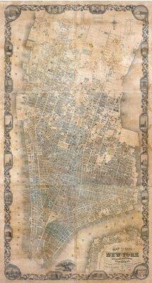 Fotomural Vintage mapa de Nueva York