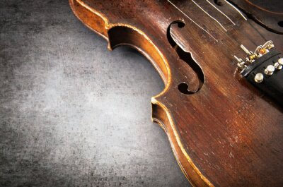 Fotomural Violin music instrument of orchestra closeup