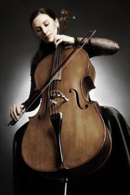 Fotomural Violonchelo, jugador, violonchelista, juego