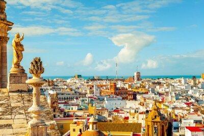 Fotomural Vista aérea de Cádiz, España