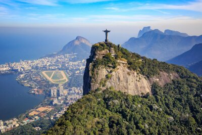 Fotomural Vista aérea de Cristo Redentor y la ciudad de Río de Janeiro