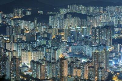 Fotomural Vista aérea de la ciudad de Hong Kong
