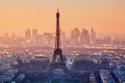 Fotomural Vista aérea de París al atardecer