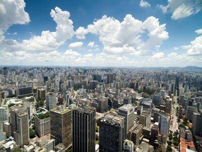Fotomural Vista aérea del valle de Anhangabau, Sao Paulo, Brasil