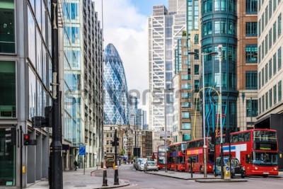 Fotomural Vista de la ciudad de Londres alrededor de la estación de Liverpool Street