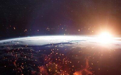 Fotomural Vista de la tierra desde el espacio. Elementos de esta imagen proporcionados por la NASA