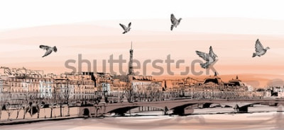 Fotomural Vista de París desde el