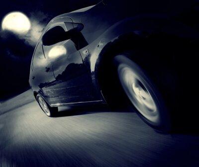 Fotomural Vista lateral del coche negro a su vez
