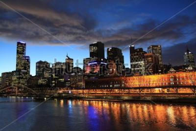 Fotomural Vista nocturna de Melbourne Australia
