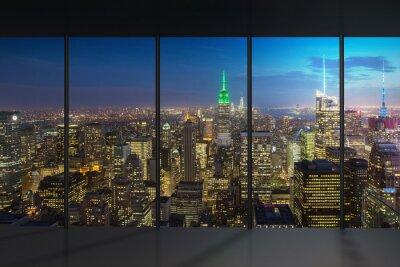 Fotomural Vista nocturna de Nueva York