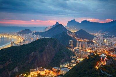 Fotomural Vista nocturna de Río de Janeiro, Brasil