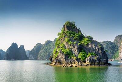 Fotomural Vista panorámica de la bahía de Ha Long, el Mar de China Meridional, Vietnam