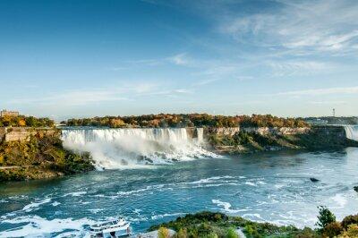 Fotomural Vista panorámica de las cataratas del Niágara en otoño