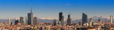 Fotomural Vistas de Milán con Alpes en el fondo