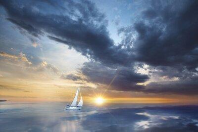 Fotomural Voilier en mer pleine
