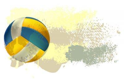 Fotomural Voleibol Banner Todos los elementos están en capas separadas y agrupados.