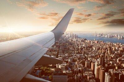 Fotomural Vuelo sobre la ciudad de Nueva York