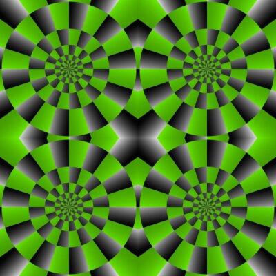 Fotomural Vuelta de la ilusión óptica de ciclo, Patrón Vector Resumen Antecedentes.
