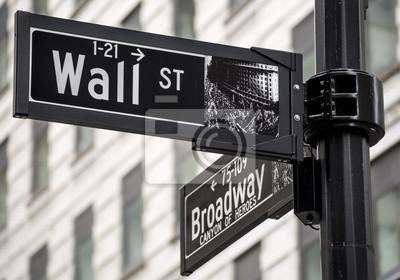 Fotomural Wall Street firmar en la ciudad de Nueva York, EE.UU.