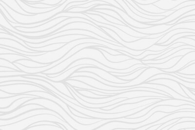 Fotomural Wavy background. Hand drawn waves. Stripe texture with many lines. Waved pattern. Line art. Black and white illustration