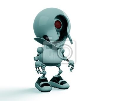 Webcamera robot extraño en el calzado deportivo fotomural ... 2f4d40b253d0a