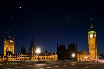 Fotomural Westminster y el gran ben por la noche