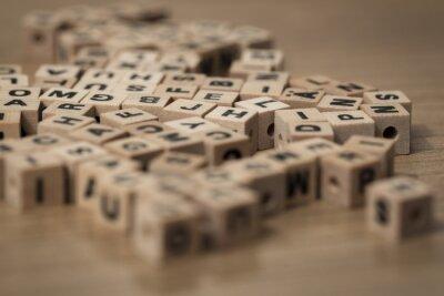 Fotomural wooden cubes