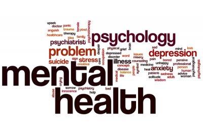 Fotomural Wordcloud salud mental