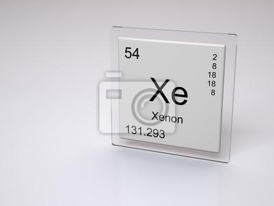 Xenon smbolo xe elemento qumico de la tabla peridica fotomural xenon smbolo xe elemento qumico de la tabla peridica urtaz Gallery